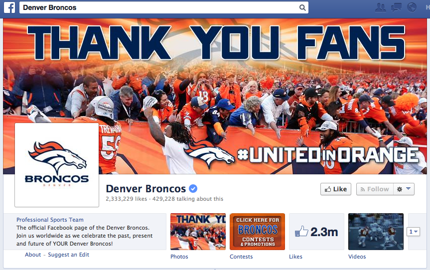 denver broncos facebook