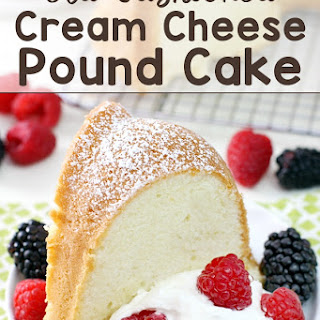 Old-Fashioned Cream Cheese Pound Cake.
