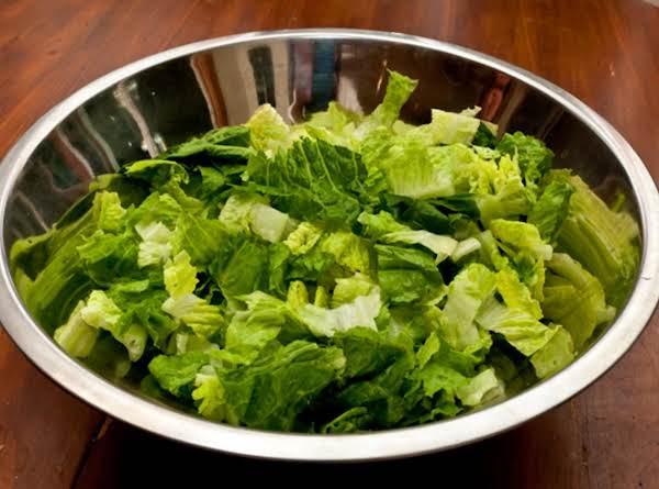 Romaine Ready For Caesar Salad Dressing.