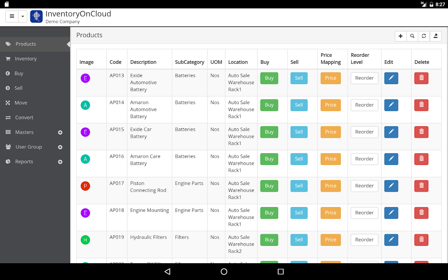 Inventory Management On Cloud- screenshot