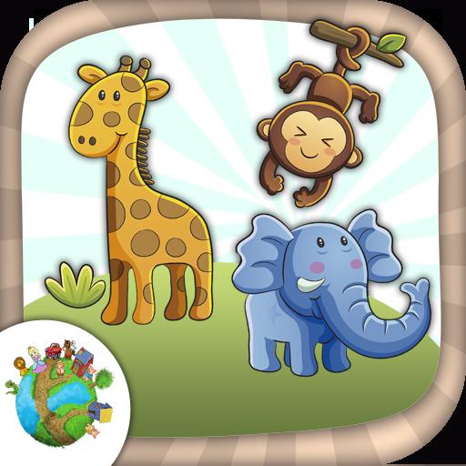 娱乐のカラージャングル動物 LOGO-記事Game