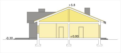 Agatka wersja A dach 22 stopnie - Przekrój