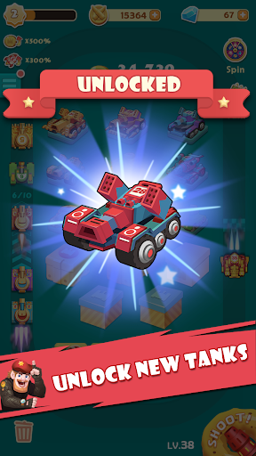 Candy Tank Hero - Merge&Idle Game apktram screenshots 3