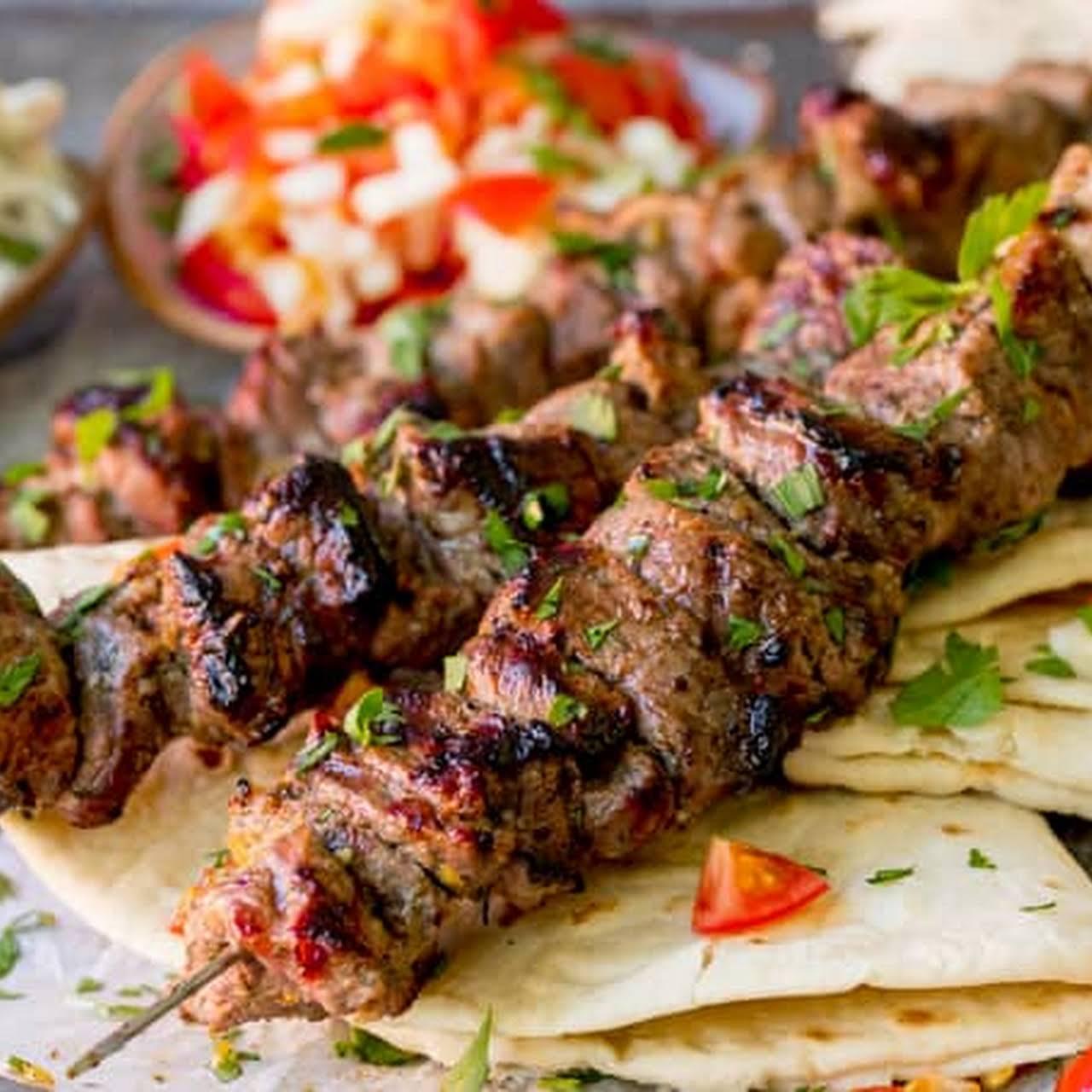 Greek Lamb Souvlaki Kebabs