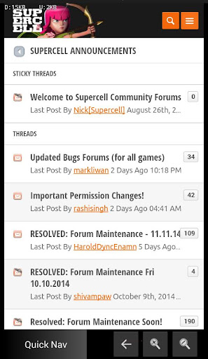 Forum App for Supercell
