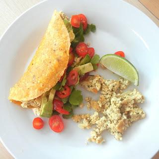 Scrambled Tofu Breakfast Tacos.