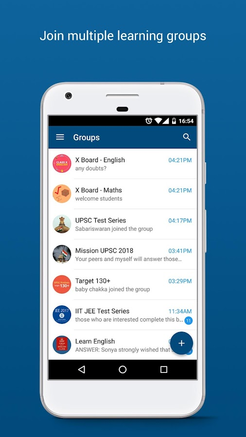 Eckovation: Group Learning and Messaging App- screenshot