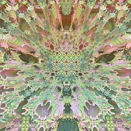 Spring Fever by Glenda Popielarski - Illustration Abstract & Patterns ( mandelbulb3d, green, mandelbulb, fractal, abstract, digital art )
