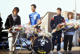 Photo: Catherine Marsal - Pascal Lance -Philippe Boucher au Tour de Moselle 1989
