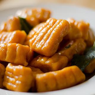 Sweet Potato Pumpkin Gnocchi with Cream Sauce and Sage
