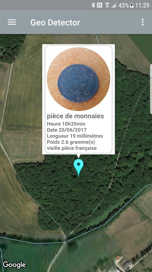 Geo Detector détecteur de métaux numismate trésor