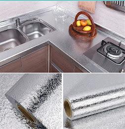 Folie de aluminiu adeziva argintiu 40 x 500 cm