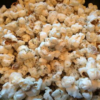 Cheesy Italian Herb Popcorn
