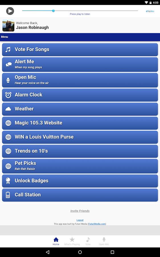 Magic 105.3 - screenshot
