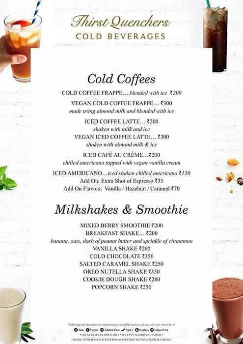 August Cafe menu 1