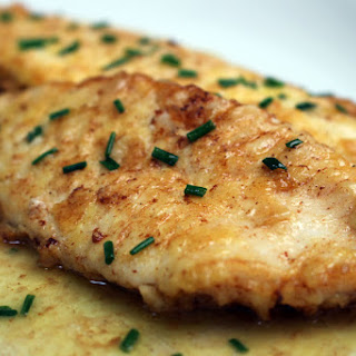 Flounder with Lemon Butter.