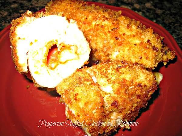 Pepperoni Stuffed Chicken~robynne