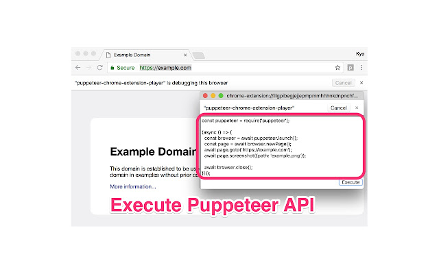 puppeteer-chrome-extension-player