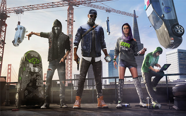 Watch Dogs 2 Themes & New Tab