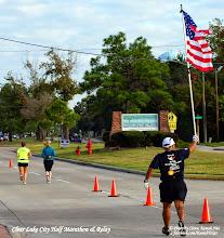 Photo: Old Glory   @ the turn around of the Clear Lake City Half Marathon & Relay.