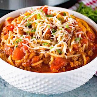 {Instant Pot} Pressure Cooker Spaghetti.