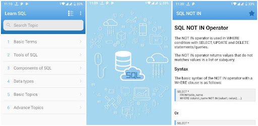 Learn SQL – Apps on Google Play