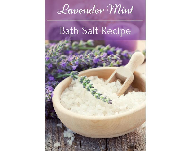 How to Make Lavender Mint Bath Salts (Recipe)