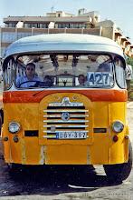 Photo: 1996-07-06. Bugibba busstation | bus terminal.  www.loki-travels.eu