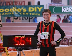 Photo: Daniel Ryan, Moycarkey Coolcroo A.C. who set a new National Record of 5.64m in the Boys U/14 Long Jump