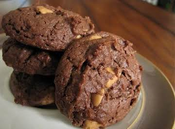 Chewy Chocolate Peanut Butter Cookies Recipe