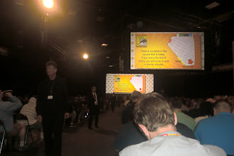 Photo: Saturday - my view of Hall H before WB and Legendary got their hands on it. Yes, I'm pretty far back. Boo.