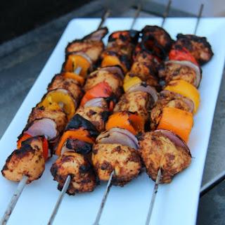 Al Pastor Marinaded Chicken Kabobs.