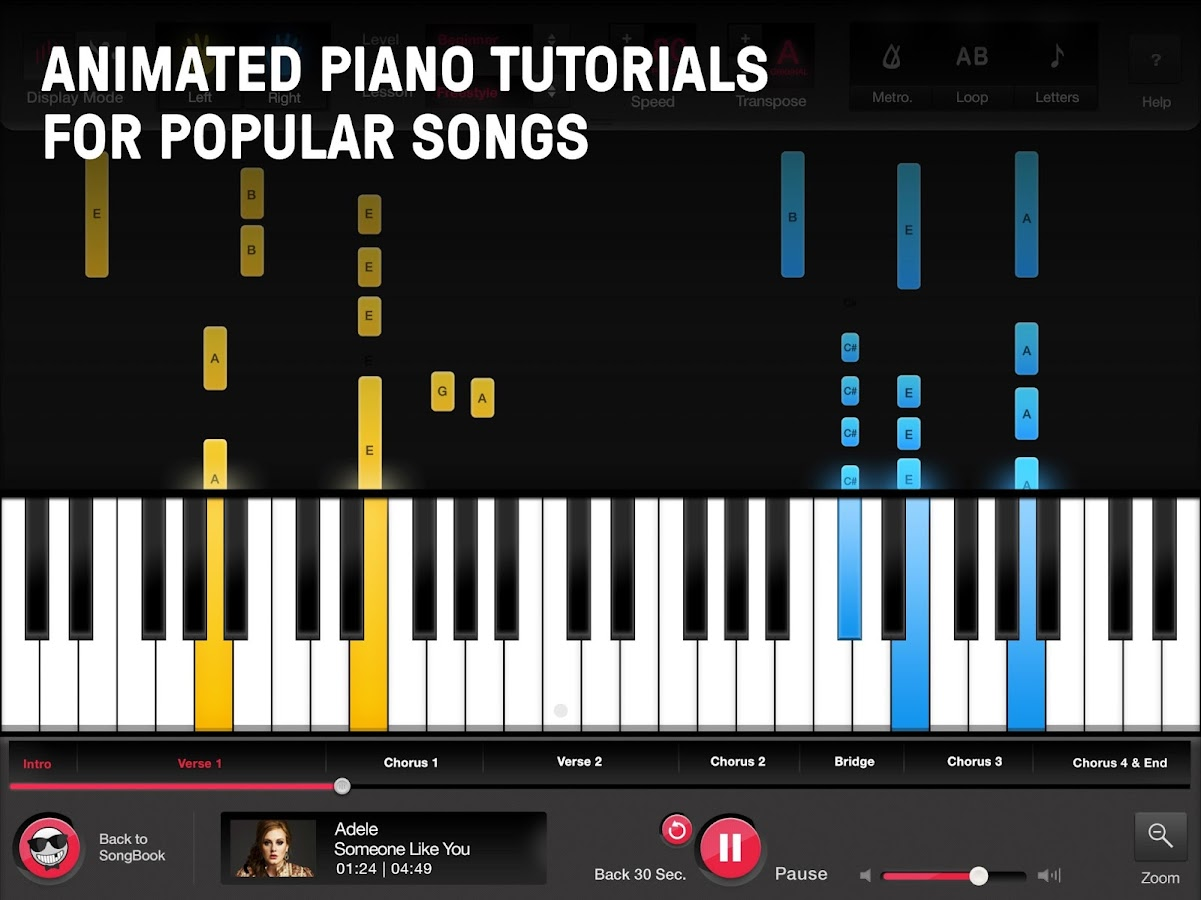 learn to play piano songs with online pianist android apps on google play. Black Bedroom Furniture Sets. Home Design Ideas