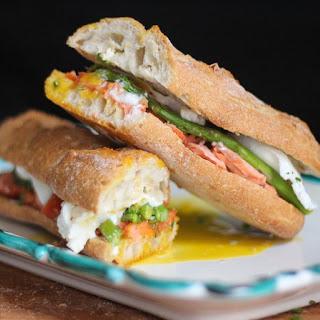 Smoked Salmon, Asparagus, and Egg Sandwich.