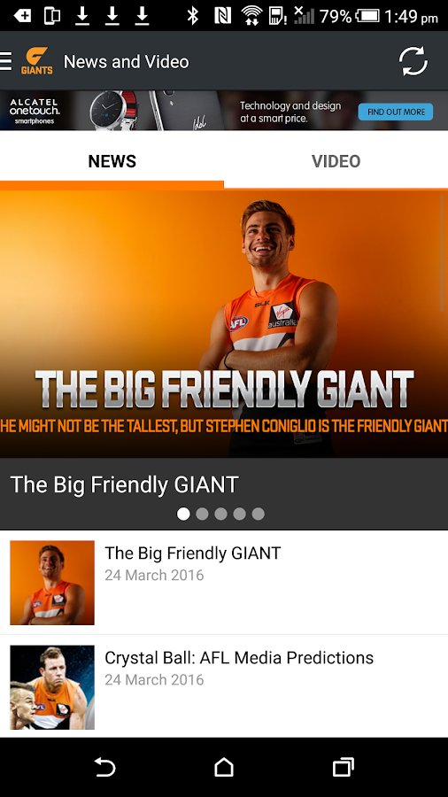 GWS Giants Official App- screenshot