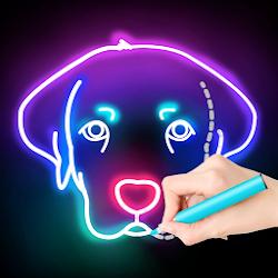 Draw Glow Animals