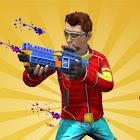 Paintball-Shooter kämpfen Farbe Krieg Schießen Are icon