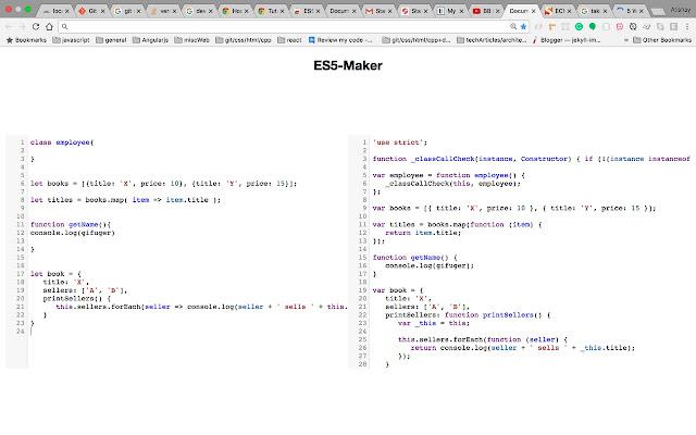ES5 Maker