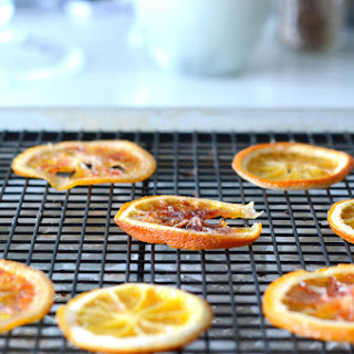 Candied Blood Orange Chips with Fennel