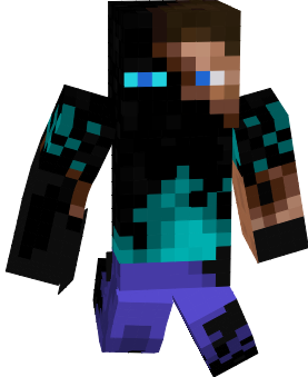 enderman mixed with steve