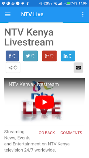 NTV Live Mobile App for PC