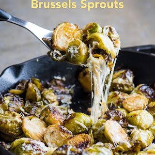 Roasted Brussels Sprouts with Parmesan & Garlic.