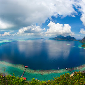 Bohey Dulang Island Paradise by Mata Arif - Landscapes Travel ( sand, heaven, blue, sea, travel, boat, paradise, people, sun, gypsy, island )