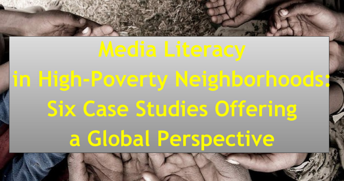 ICA International Panel on Media Literacy High Poverty Neigborhoods