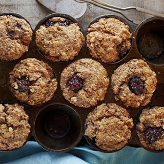 Vegan Blackberry Bran Muffins.