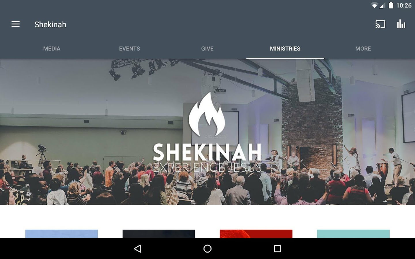 Shekinah Church- screenshot
