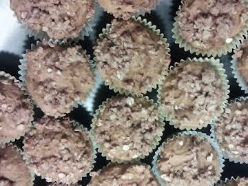 Mini Crumble pumpkin spice muffins
