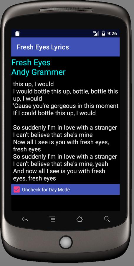 Fresh Eyes Lyrics - Android Apps on Google Play