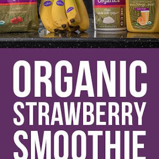 Organic Morning Strawberry Smoothie.