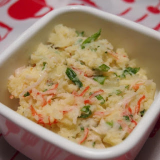 Ponzu Potato Salad with Crab Sticks